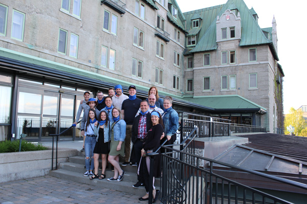 The entire team were guests at the Manoir Richelieu